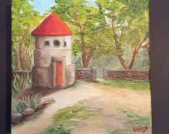 Austin, Texas Mayfield Park Dove House Painting