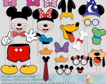 SALE!! Limited Time! Mouse Party Photo Booth Props for mouse party!