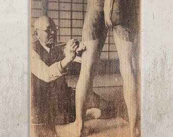 Japanese Tattoo - Vintage Tattoo / / Transfer on wood
