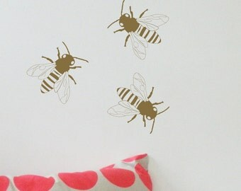 BEES Wall Sticker, Removable Decal, Made In Australia