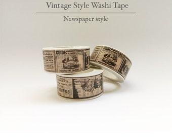 Decorative Vintage Washi Tape - Old Newspaper Style ( 10m*2cm )