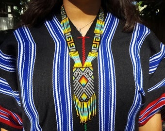 Bear of Protection & Strength Thick beaded Necklace - 31 bead (Colombia)