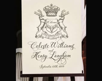 Wedding Welcome Sign, Customized with Your Wedding Details! (Printable)