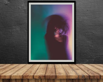Blurred 2 // Poster, Photography, Model, Abstract, Motion, Pastel, Colours, Print, Wall Decor, Home Decor, Studio, Unique, Berlin, dance