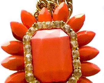 Renetta's Orange Flower Necklace