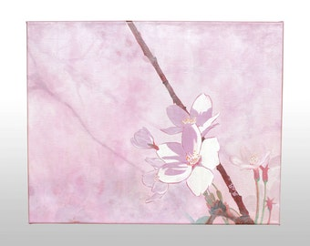 Picture - Original - Japanese cherry tree flowers acrylic - pink
