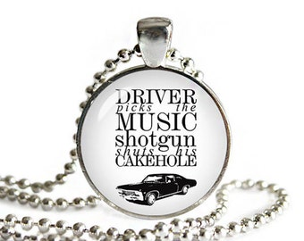 Supernatural Necklace Driver picks the Music Supernatural Pendant Supernatural Jewelry Supernatural Quote