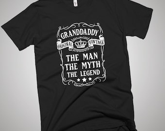 Granddaddy the Man the Myth the Legend Father T-Shirt