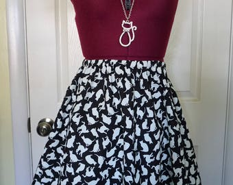 Glow In The Dark A-Line Cat Skirt