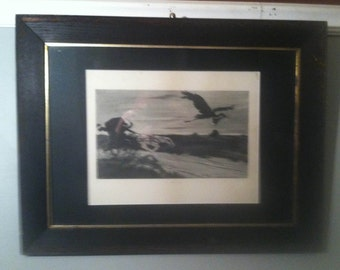 Hurry Call - Print by William Balfour-ker - Signed !