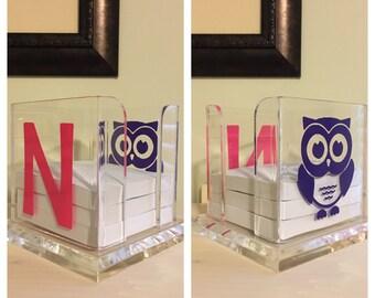 Acrylic Post It Note Holder - Note Holder - Cube Note Holder - Holds 3 x 3 Notes - Personalized Note Holder - Custom Note Holder