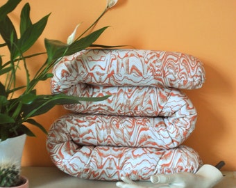 ORANGE SQUIGGLE CUSHION / Limited Edition / Original Print Design