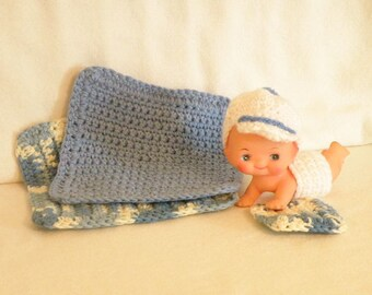 Crocheted Baby/Toddler Washcloth/Facecloth Set