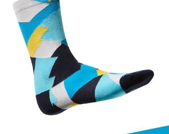 "Colorful, design cotton socks TAKAPARA. Model: ""Towarowa 11m2"""