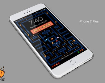 Pac-Man - iPhone 5,6,7,8 Background Wallpaper - mobile cell phone personalized lockscreen background - Ringtone