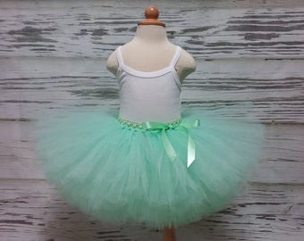 Free Shipping Mint  Fluffy Tutu Skirt-Baby Tutu Skirt-infant Tutu Skirt-photo Prop