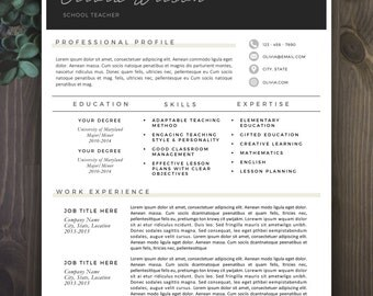 modern resume template modern resume design for word 12 page resumes - 2 Page Resume