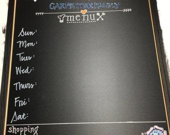 Personalized Kitchen Menu Board