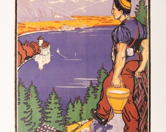 Vintage poster/poster Pro May Visit French gentleman-Switzerland-Print