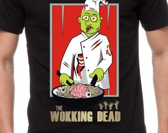 Mens & Womens The Wokking Dead T Shirt Funny Tee Zombie Shirt Gift for Zombie Fan Gift for TV Show Buff Wok Gift for Cook Gift for Him TH116