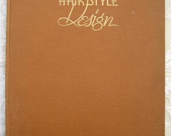 40's Vintage Hair Style Design Book. Newberry. Swing Hairdos. Signed 1st Edition