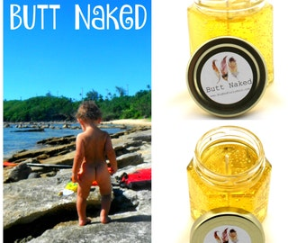 Butt Naked ~ Tropical Scented Gel Candle