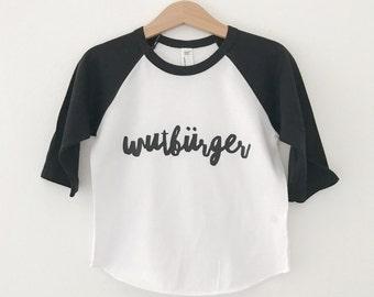 ANGER citizens kids Raglan T-Shirt baseball shirt