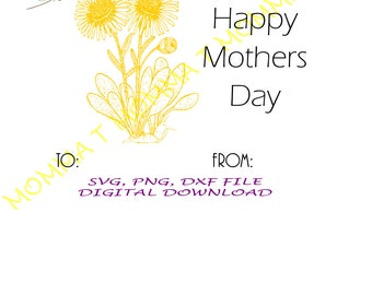 HAPPY MOTHERS DAY card/ dandelion/ cricut pen project/ mothers day