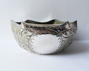 Vintage Silver Plated Planter, Floral Decoration, Early 20th Century, John Collyer & Co Ltd