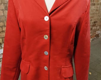 Vintage blazer, red blazer, etam, mother of pearl buttons, SALE!!