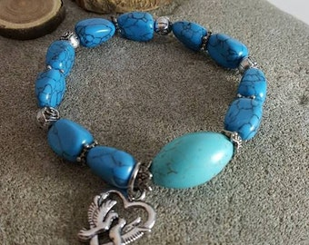 Adjustable bracelets with stone of Turquoise
