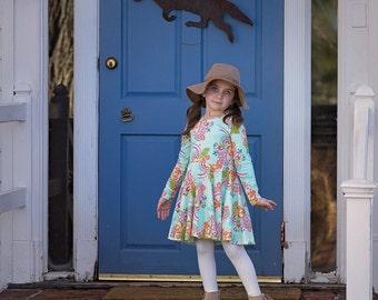 Girls fall dress - toddler girls fall clothes - fall dress for girls - girls clothes for fall - twirl dress - girls fall dress