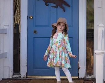 Girls spring dress - toddler girls spring clothes - spring dress for girls - girls clothes for spring - twirl dress - girls summer dress