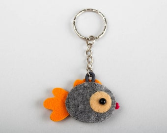 Fish Keychain felt mini fish valentines day gift christmas ornament keychain for boyfriend mobile attachment valentines day Fish Keyring