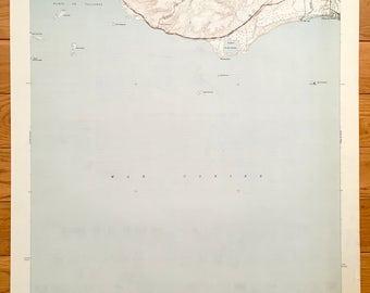 Antique Punta Cuchara, Puerto Rico 1946 US Geological Survey Topographic Map – Mar Caribe, Playa de Ponce, Peñuelas, Los Pámpanos, Tallaboa