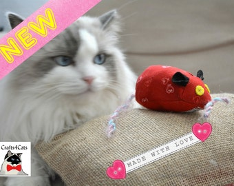 Catnip Toy -  Catnip Cat Toy Mouse - Silvervine Cat Toy -  Valentine Catnip Toy - Cute Unique Cat Toy