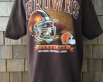 Vintage 90s CLEVELAND BROWNS T Shirt - XL