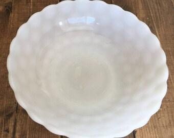 Vintage Milk Glass Bubble Bowl