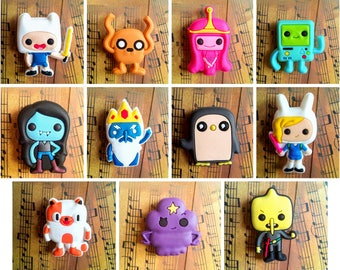 Adventure Time Cute Chibi Rubber Fridge Magnets Toys for kids
