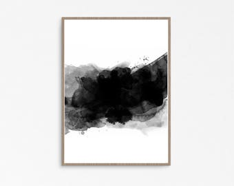 watercolor printable, Cool Posters, watercolor print nursery, Minimalist Print, Minimalist Abstract, Black and White prints, Printable art