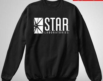 Star Labs Sweatshirt - S.T.A.R Laboratories Crewneck Pullover Sweatshirt - The Flash Sweatshirt