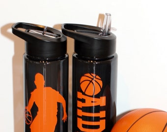 Personalized Basketball Water Bottle Boys