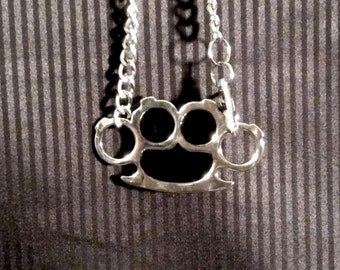 Brass Knuckles Necklace