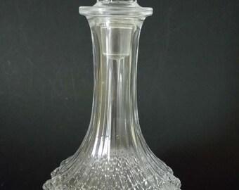Vintage Cut Glass Carafe Decanter