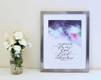 Favors (Colorful) // Islamic wall art | calligraphy | hand lettered | watercolor print
