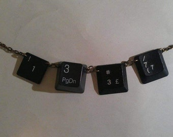 50% Off! Handmade Keyboard Key 1337/leet Necklace