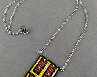 Zelda Chest Necklace - Zelda Necklace Pixel Jewelry Zelda Jewelry Hyrule Jewelry Video Game Necklace Video Game Jewelry 8-bit necklace