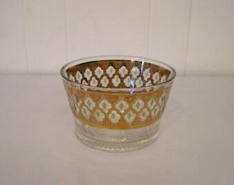 Culver gold glass bowl, Culver glass, modern glass, mid century, vintage glass