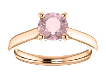 Solitaire Engagement Ring, morganite solitiare ring, solitare, solitaire morganite, rose gold solitiaire ring, morganite rose gold solitaire