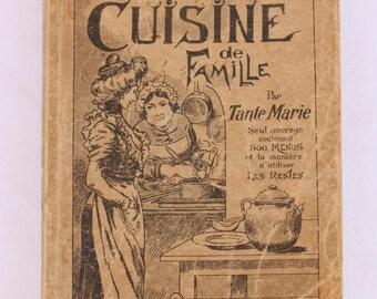 French vintage cook book 'La Veritable Cuisine de Famille'